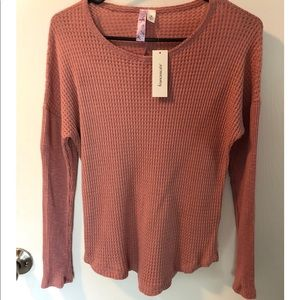 NWT Francesca's Collection Dusty pink knit top